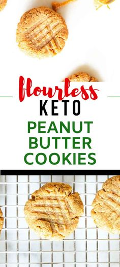 You are going to go wild for this easy to make Keto Peanut Butter Cookies.   7-Ingredient cookies make the BEST easy low carb dessert, and they keep great in the freezer.  #kickingcarbs #keto #ketodessert #lowcarb Low Carb Desserts, Dessert Recipes, Keto Peanut Butter Cookies, Cookies Ingredients, Low Carb Diet, Ketogenic Diet, Freezer, Easy Meals, Snacks