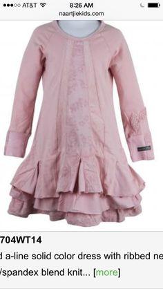 Pink naartjie ruffle bottom tunic