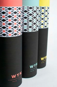 Graphic Design student Brittany Albertson created a fictional South African wine packaging label called Wyn, meaning wine in Afrikaans. Cool Packaging, Beverage Packaging, Coffee Packaging, Bottle Packaging, Brand Packaging, Design Packaging, Packaging Ideas, Wine Bottle Design, Wine Label Design