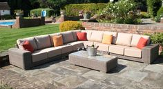 Luxury Rattan Garden Sofas from Bridgman - Outdoor furniture around the garden - Design Rattan Furniture Rattan Sofa, Rattan Furniture, Outdoor Furniture, Wicker, Outdoor Decor, Luxury Garden Furniture, Garden Sofa, Sofas, Garden Design