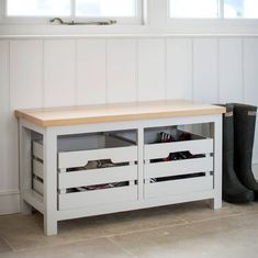 storage bench with two crates by all things brighton beautiful | notonthehighstreet.com