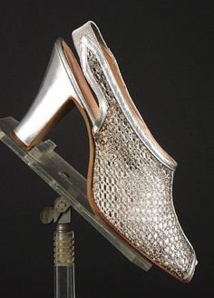 1930s silver mesh sandals