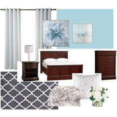Design Plan for Transitional Bedroom project. For the after pics visit my board! Transitional Bedroom, Dark Wood, Master Bedroom, Curtains, Board, Interior, Wall, Modern, Projects