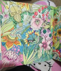 Another page from Escape to Wonderland on a National Colouring Book Day…