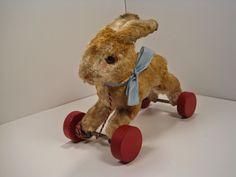 MY STEIFF LIFE Rabbit Run, Bunny, Teddy Bear, Toys, Antiques, Animals, Life, Activity Toys, Antiquities