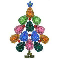 Colourful Christmas Tree Pin Christmas Gift Pin
