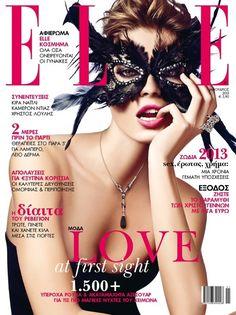 #Elle Greece January 2013 Cover - Cristina Tosio #fashionmagazinecovers