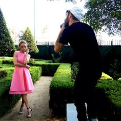 Pretty in pink: actress Kate Bosworth caught in the moment on set for The Edit magazine's cover shoot. http://www.net-a-porter.com/magazine
