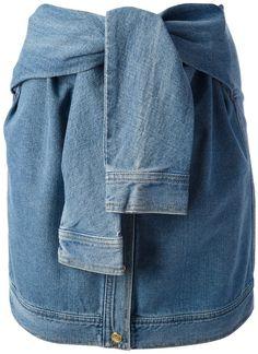 Pin for Later: Der subtile, coole Knoten, von dem wir nicht genug bekommen können Opening Ceremony DKNY X Denim Rock Opening Ceremony DKNY X Denim Skirt ($322)