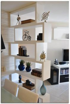 How to furnish a small living room and decorate with a niche wall and various access . - How to furnish a small living room and decorate with a niche wall and various accessories - Living Room Partition Design, Living Room Divider, Room Partition Designs, Living Room Tv, Partition Ideas, Room Partition Wall, Bedroom Divider, Partition Walls, Room Interior