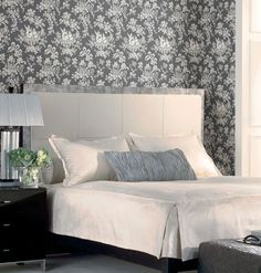 Teahouse Toile in White on Charcoal
