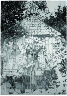 drawing by Malgorzata Idziak, via Behance Behance, Drawings, Painting, Art, Art Background, Painting Art, Kunst, Sketches, Paintings