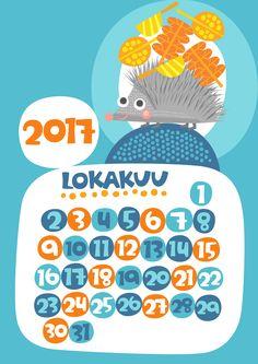 Lokakuu 2017 | free | printable | pattern | lasten | lapset | askartelu | kalenteri | vuosikalenteri | seinäkalenteri | tulostettava | paperi | koti | sisustus | kids | children | crafts | home | paper | calendar | Pikku Kakkonen