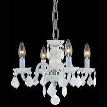The Elegant Lighting Royal Cut White Crystal Direct For Avalon Single Tier Chandelier