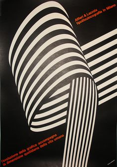 by franco grignani - via flickr #contrast #blackandwhite #red #poster