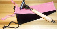 Handmade Razor Shaving Kit Mach 3 Razor Shaving Handle. Gillette Mach 3 Razor. Birdseye Maple with Chrome Hardware. FREE MACH 3 BLADES! #music