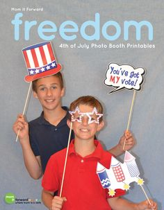 Celebrate Independence Day with these fun 4th of July Printable Photo Props. They will help you create fun pictures that will last a lifetime.