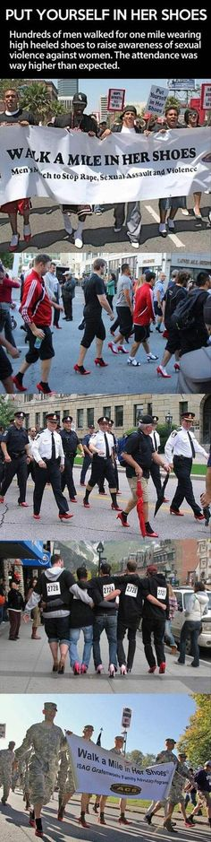 Faith In Humanity Restored – I wish I could've seen this. I bet they were in serious pain after a mile.  Why didn't the women in their lives tell them NOT to wear socks in pointy-toed shoes?  HAHA