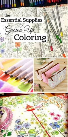 Grown up coloring is a fun stress reliever, and can even be meditative. Having the right tools in your coloring tool kit will certainly make it much more pleasurable. If you have ever used a pen with gloppy ink, a dried out marker, or a pencil lacking pig Coloring Book Pages, Coloring Sheets, Coloring Pages For Grown Ups, Colored Pencil Techniques, Colored Pencil Tutorial, Coloring Tips, Coloring Tutorial, Colouring Techniques, Painting Techniques