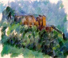 Chateau Noir - Artist: Paul Cezanne Completion Date: c.1905 Style: Cubism Period: Final period Genre: landscape Technique: oil Material: canvas Gallery: Private Collection