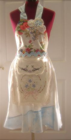 The Empty Nest: My Garden Fantasy Couture Apron Update!!
