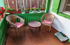 romanian-traditional-house-design-colorful-porch-rattan-chairs - Home Decorating Trends - Homedit Traditional House, Traditional Interior, Outdoor Furniture Sets, Outdoor Decor, Joy And Happiness, Decoration, Bunt, House Design, Interior Design