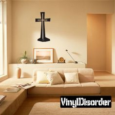 Cross Wall Decal - Vinyl Decal - Car Decal - DC010