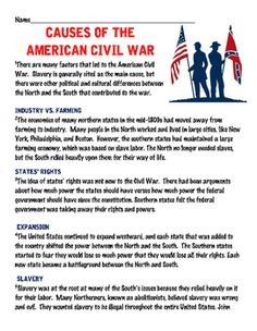 essay questions on the american civil war Print this essay download essay the american civil war, also known as the war between the states or simply the civil war (see naming), was a civil war fought from 1861 to 1865 between the united states (the union or the north) and several southern slave states that had declared their.