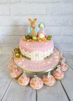Peter Rabbit and Jemima Puddleduck themed 4th Birthday Cake.