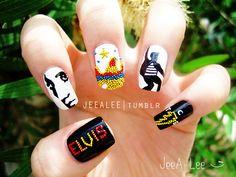 Elvis Presley Nails