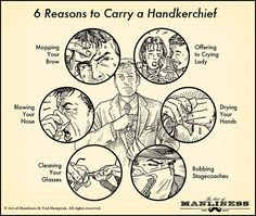 6 Reasons to Carry a Handkerchief