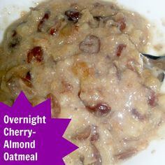 Overnight Cherry Almond Oatmeal