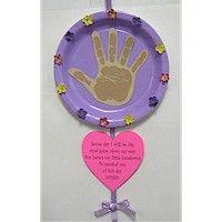Mother's Day heart/paper plate handprint craft2