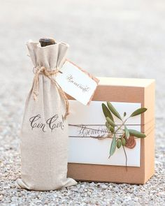 """See the """"Welcoming Gifts"""" in our Chrissy Teigen and John Legend's Formal Destination Wedding in Lake Como, Italy gallery"""