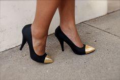 Kristen Turner Of Glitter 'N Glue: DIY Gold Toe Shoes | StyleCaster News