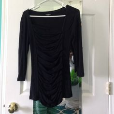 Sexy basic express top Black cotton shirt Express Tops