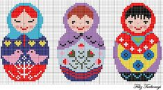 to decide how to process matryoshka - Etamin tapestry - . to decide how to process matryoshka – etamin tapestry – Cross Stitch Borders, Cross Stitch Charts, Cross Stitching, Cross Stitch Patterns, Diy Embroidery, Cross Stitch Embroidery, Embroidery Patterns, Diy Sticker, Perler Bead Art