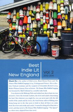 """Selected from independent literary magazines in New England by Black Key Press, this collection of Best Indie Lit New England includes Khanh Ha's short story """"The Quest"""" (Printer's Devil Review)."""