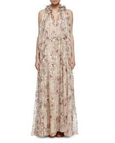 2016 Chloe floral Fil Coupe dress