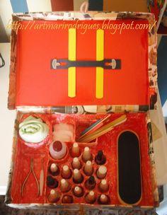 Art & Casa: Caixa de sapato? Não, uma maleta para esmaltes!