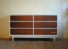Mid Century Modern Six Drawer Dresser / Credenza | Phylum Furniture... Make with malm dresser