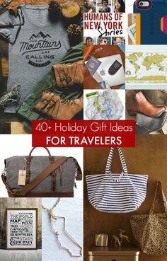 Gifts for Travelers! More than 40 holiday gifts ideas for travelers --> Pin this post for wanderlust-inspiring travel gift ideas for any occasion.