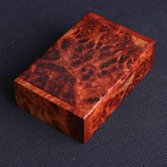 4 Rosewood Burl Box Card Case Jewelry Chest Trinket by iWoodShop, $28.50