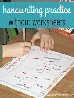Make handwriting practice at home fun without worksheets from What Do We Do All Day