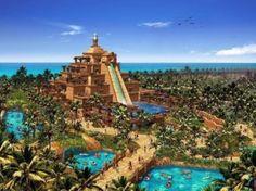 Аквапарк «Аквавенчур» в Дубае — самый популярный и самый большой парк развлечений в Арабских Эмиратах, занимающий на территории острова Пальм Джумейра 17 га