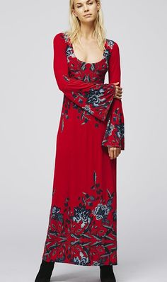 Free People Long Red Dress, Buy Online
