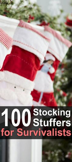 100 Stocking Stuffers For Survivalists. Christmas is almost here! If you're a prepper, survivalist, or homesteader (or whatever you call yourself), here are some things you might want to add to your wishlist. #Urbansurvivalsite #Stockingstuffers #Christmasgifts #Homesteader #Survivalist #Prepper