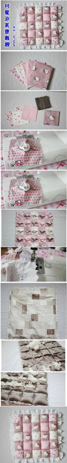 DIY Cute Little Puff Cushions DIY Cute Little Puff Cushions by diyforever