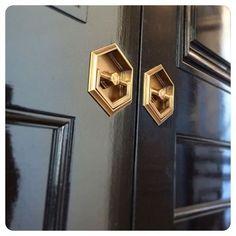 amazing flush pulls in high gloss paint doors black lacquer door hexagon brass flush pull   Wilmette Feed