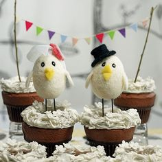 $19.77 each Bird Bride and Groom Cake Toppers by Beau-coup